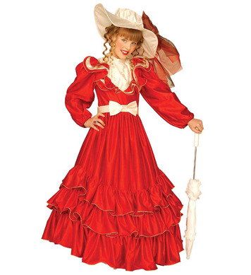 CLEMENTINA RED (dress w/hoop ribbon belt hat) Childrens