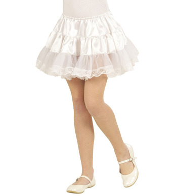 PETTICOAT SATIN / LACE - CHILD - WHITE
