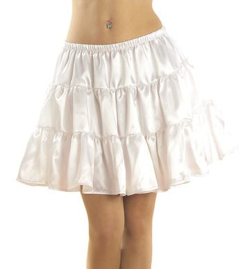 PETTICOAT SATIN WHITE