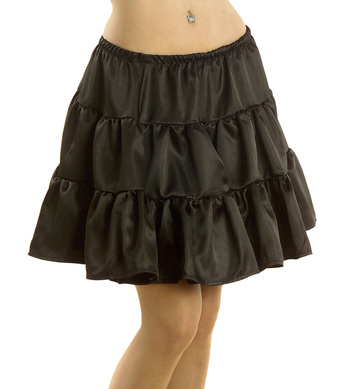 PETTICOAT SATIN BLACK