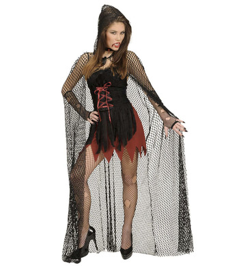 HOODED FISHNET CAPES 150 cm