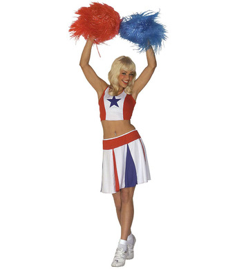 CHEERLEADER - WHITE/RED/BLUE (top skirt)