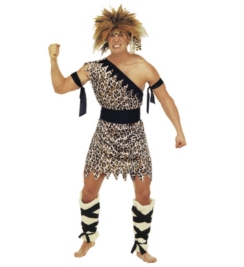 CAVEMAN COSTUME (tunic belt jambs armbands headband)