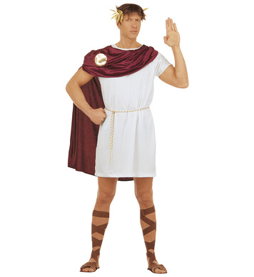 SPARTACUS COSTUME (tunic belt cape sandals laurel)