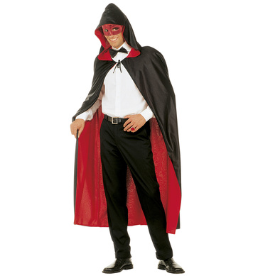 HOODED CAPE REVERSIBLE - RED/BLACK