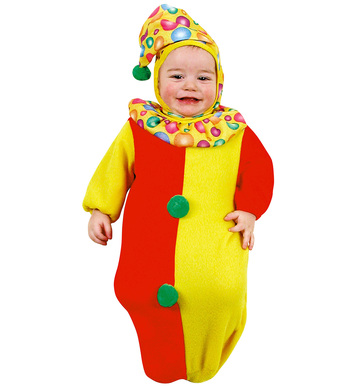 BABY BUNTING CLOWN (bunting headpiece)