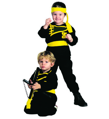 LITTLE NINJA (2-3yrs/3-4yrs) (coat pants belt headband)