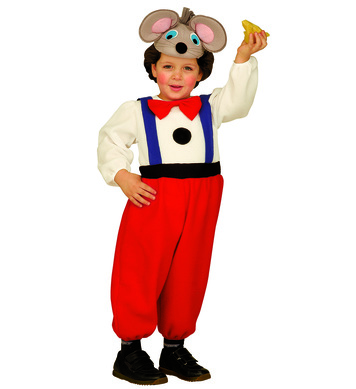 COMIC MOUSE (2-3yrs/3-4yrs) (jumpsuit headpiece mask)