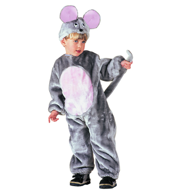PLUSH LITTLE MOUSE (3-4yrs/4-5yrs) (jumpsuit headpiece)