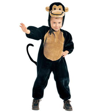 PLUSH LITTLE MONKEY (3-4yrs/4-5yrs) (jumpsuit headpiece)