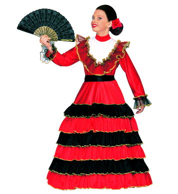 SENORITA COSTUME (dress w/hoop belt) Childrens