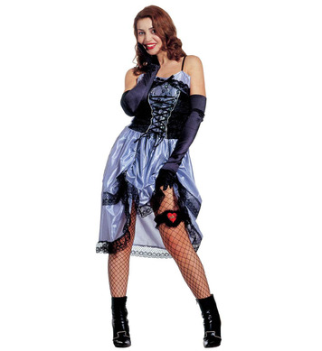 SALOON LADY COSTUME BLUE