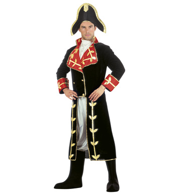 NAPOLEON COSTUME (long coat jabot pants boot covers hat)
