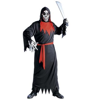 EVIL PHANTOM COSTUME (hooded robe belt mask) Childrens