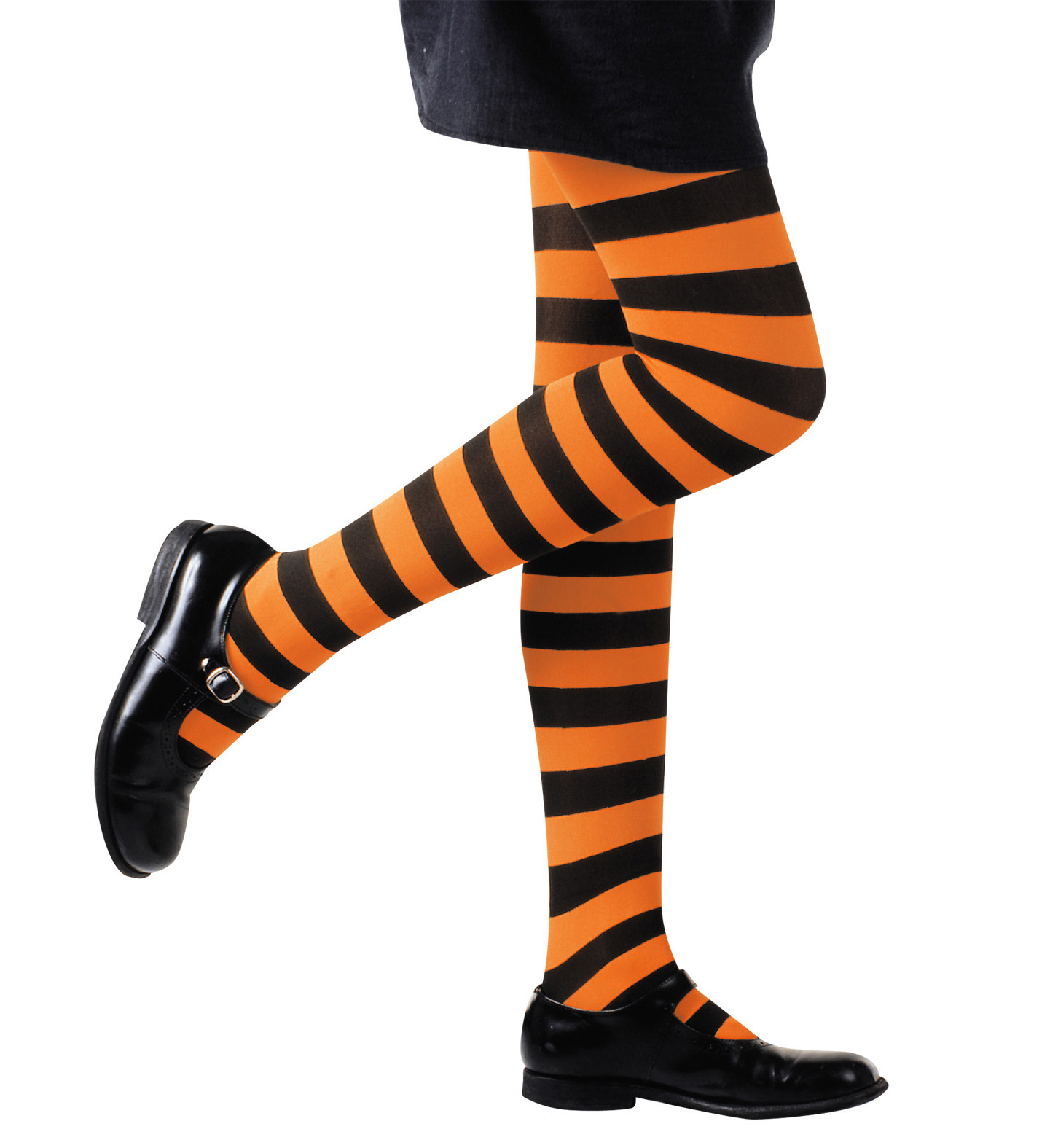 Pantyhose Striped - Orange/Black Stockings Tights Pantyhose Lingerie Halloween