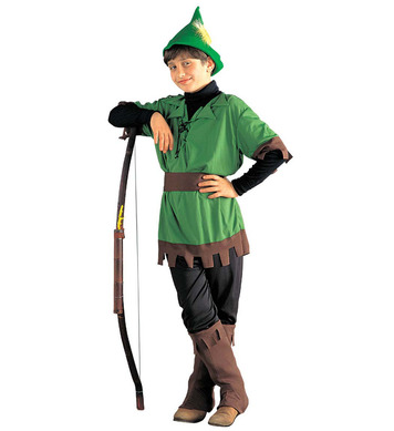 ROBIN HOOD (coat pants belt boot covers hat) Childrens
