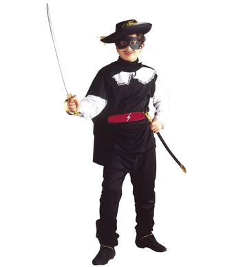 BANDIT COSTUME (coat pants belt cape eyemask) Childrens