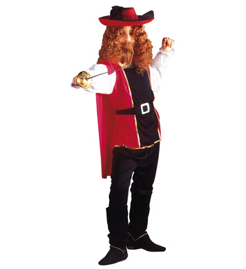 MUSKETEER COSTUME (coat pants belt cape) Childrens