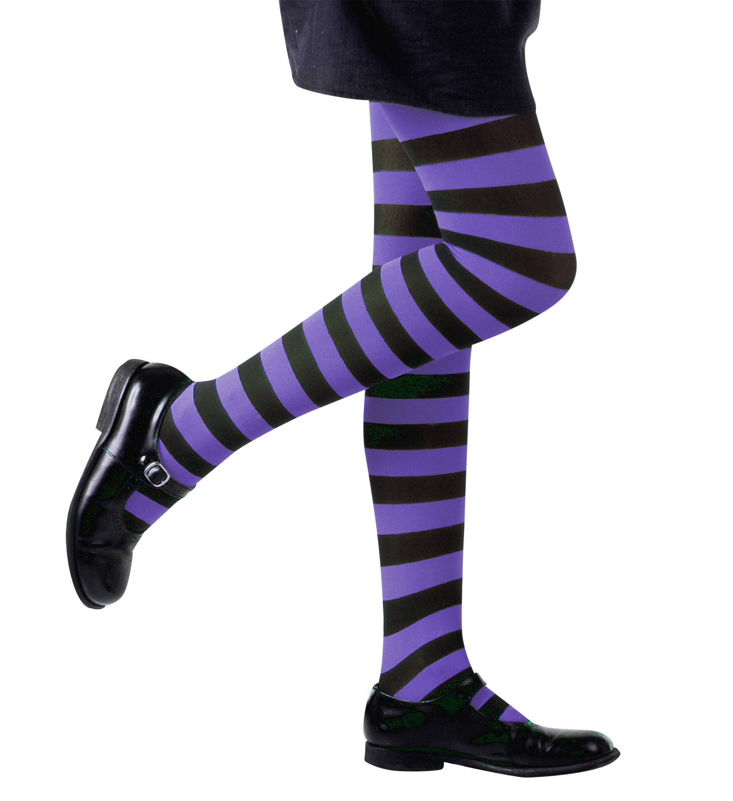 Pantyhose Striped - Purple/Black Stockings Tights Pantyhose Lingerie Halloween
