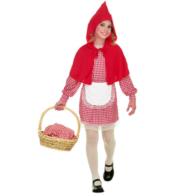 RED RIDING HOOD (dress apron hooded capelet) Childrens