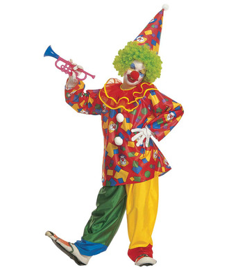 FUNNY CLOWN (coat with collar pants hat) Childrens