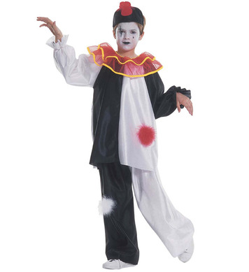 PIERROT COSTUME (coat with collar pants hat) Childrens