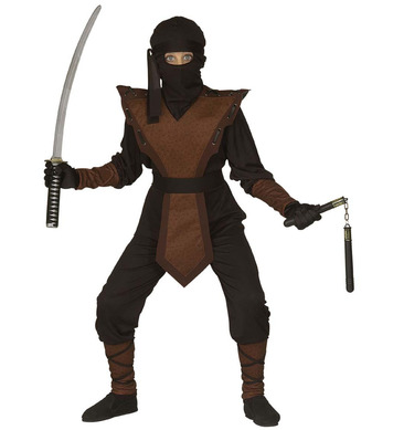 DRAGON NINJA (jumpsuit chestpiece mask headband) Childrens