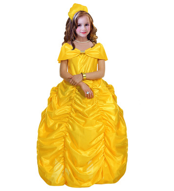 BEAUTY QUEEN YELLOW (dress w/hoop belt headpiece) Childrens