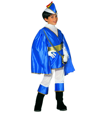 BLUE PRINCE (shirt coat cape pants belt hat bcovers) Childrens