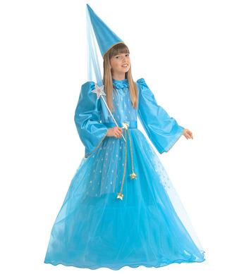MAGIC FAIRY BLUE (dress w/hoop belt hat w/veil) Childrens