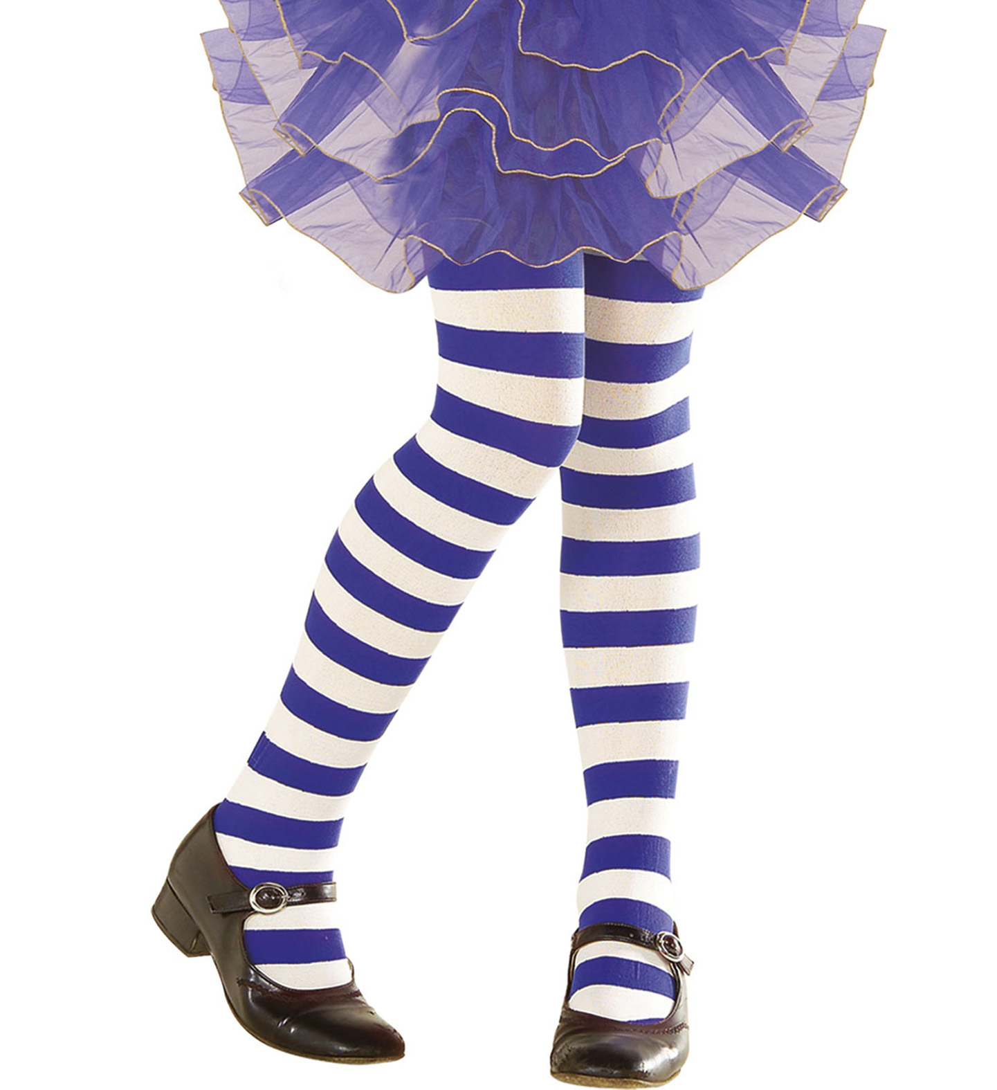 Pantyhose Striped - Blue/White Stockings Tights Pantyhose Lingerie Fancy Dress