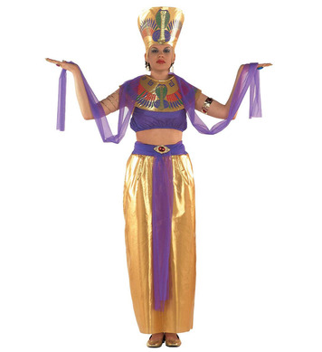 CLEOPATRA GOLD/PURPLE (top collar w/veils skirt hat)