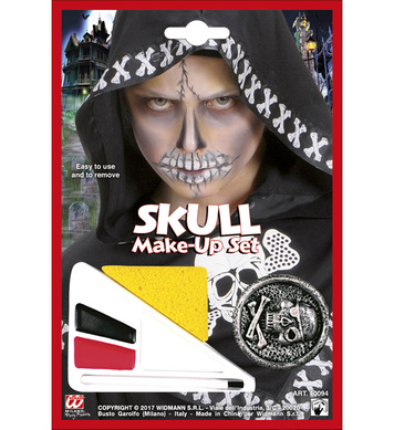 SKULL MAKE-UP SET WITH ACCESSORY