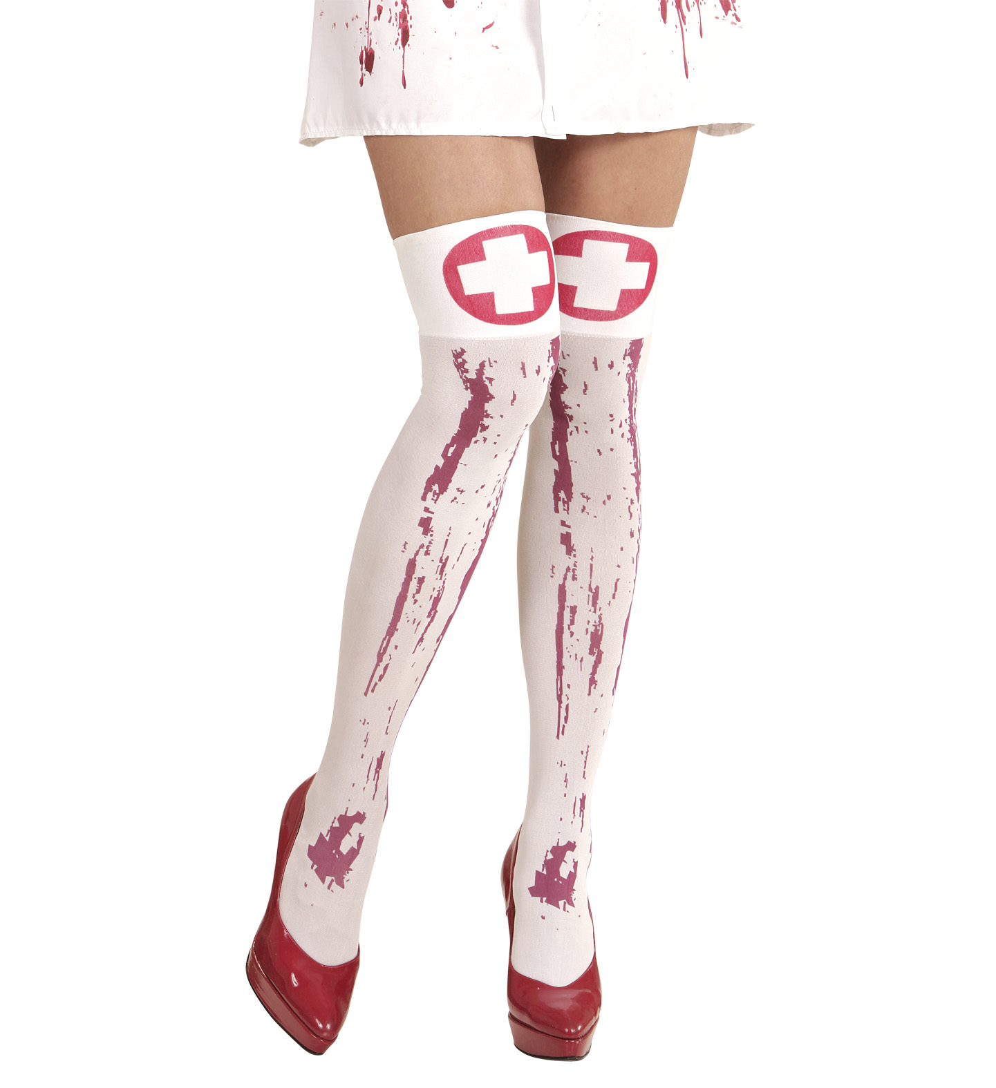 Bloody Nurse Thigh Highs Stockings Tights Pantyhose Lingerie Halloween