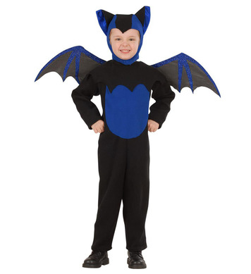 BAT COSTUME (3-4yrs/4-5yrs) (jumpsuit hat wings)