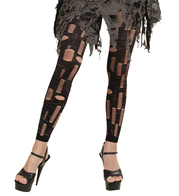 ZOMBIE TATTER TIGHTS PRINTED