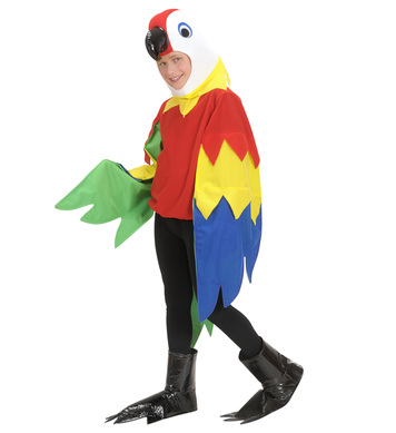PARROT COSTUME (costume mask feet) Childrens