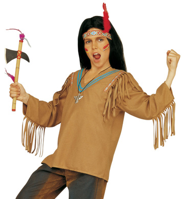 APACHE COSTUME (coat headband with feather) Childrens