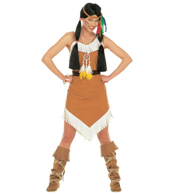 COMANCHE (dress w/belt headband w/feathers)