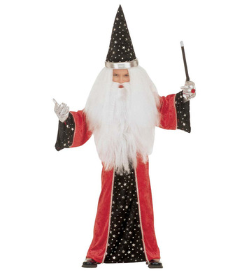 FANTASY WIZARD (3-4yrs/4-5yrs) (robe hat)