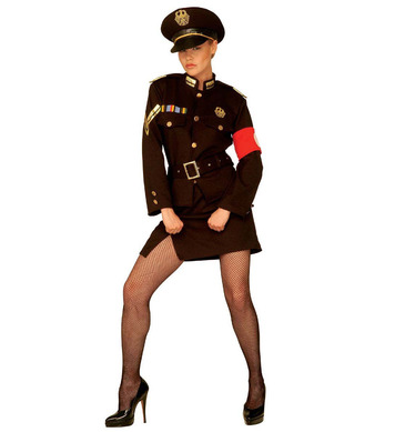 MARLENE OFFICER COSTUME (jacket skirt belt hat)