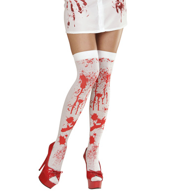 BLOODY OVER THE KNEE SOCKS