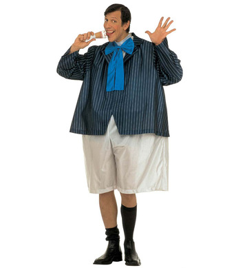 FAT SCHOOLBOY COSTUME (wire hoop jumpsuit jacket bow tie)