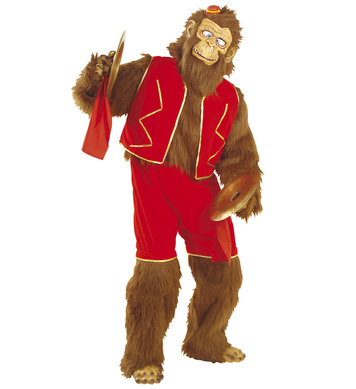 CRAZY MONKEY PLUSH COSTUME (jumpsuit shorts vest hands/feet