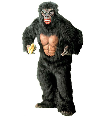 KING KONG PLUSH COSTUME (jumpsuit w/chest hands/feet mask)