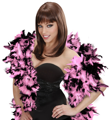 FEATHER BOA 65g 180cm - PINK/BLACK