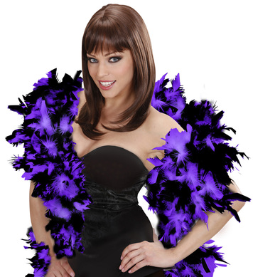 FEATHER BOA 65g 180cm - BLK/PURPLE