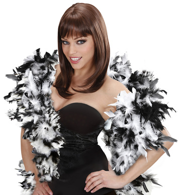 FEATHER BOA 65g 180cm - BLK/WHITE