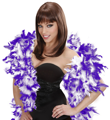 FEATHER BOA 65g 180cm - WHITE/PURPLE