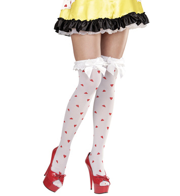 QUEEN OF HEARTS OVER THE KNEE SOCKS
